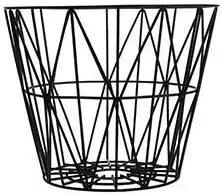 Cos Metalic Mic cu Model Geometric - Metal Negru diametru(40cm) x inaltime(35cm)