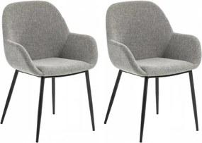 Set de 2 scaune Kona gri deschis, 59 x 83cm