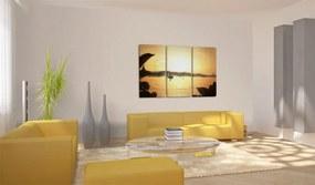 Tablou Bimago - Fisherman At Sunset 60x40 cm