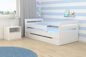 Ourbaby copii pat Tomi - alb 160x80 cm pat + spațiu de depozitare