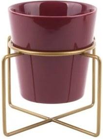 Ghiveci din ceramică cu suport PT LIVING Coy, roşu închis