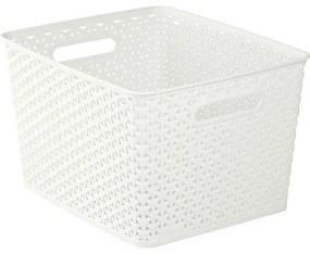 Cos din plastic alb, 32x32x28 cm