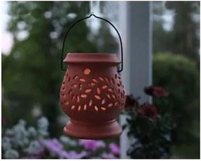 Felinar LED pentru exterior Best Season Clay, roșu