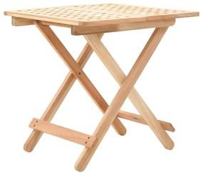 247105 vidaXL Masă laterală pliabilă, 50x50x49 cm, lemn masiv de nuc