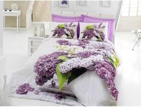 Lenjerie de pat cu cearșaf din bumbac Vilma, 200 x 220 cm