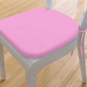 Goldea pernă pentru scaun rotundă din bumbac 39x37cm - roz 39 x 37 cm