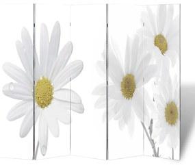Paravan despărțitor cu imprimeu floral, 200 x 180