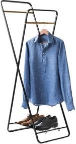 Suport cu raft pentru haine Compactor Noir Shape