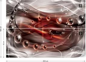 Fototapet GLIX - 3D Red + adeziv GRATUIT Tapet nețesute - 254x184 cm