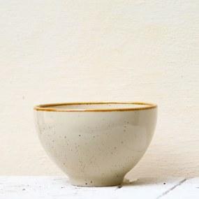 Bol Gardena din ceramica crem 13 cm