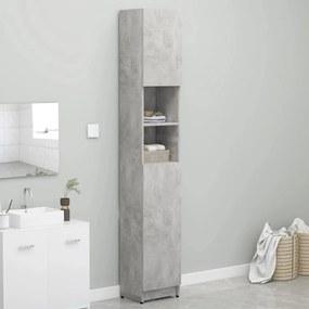 802880 vidaXL Dulap de baie, gri beton, 32 x 25,5 x 190 cm, PAL