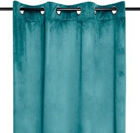 Draperie decorativă din velur DANAE turcoaz 140 x 260 cm 1 buc