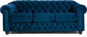 Canapea extensibila Stil albastra 200/100/80 cm