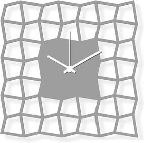 Ceas de perete de dimensiuni medii, sticlă acrilică gri 28x28 cm - NeoKubist | DSGN
