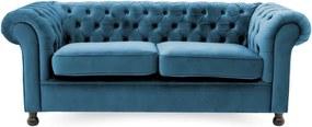 Canapea cu 3 locuri Vivonita Chesterfield, albastru