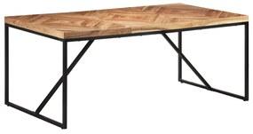 323552 vidaXL Masă de bucătărie, 180 x 90 x 76 cm, lemn masiv acacia/mango