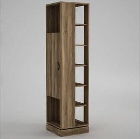 Dulap înalt cu rafturi Roll Walnut, înălțime 180 cm