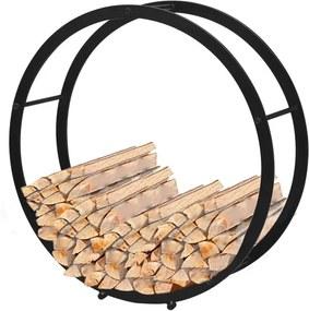 Rastel pentru lemne de foc rotund