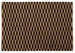 Covor din bumbac si iuta CAPSULE natur/ negru, 160x230cm