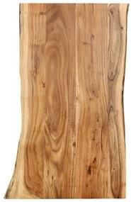 286331 vidaXL Blat de masă, 100x(50-60)x2,5 cm, lemn masiv de acacia
