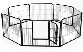 PawHut Gard pentru Animale Câini Pisici Pui Rozătoare Plasă Cușcă 8 Bucăți 80x60cm