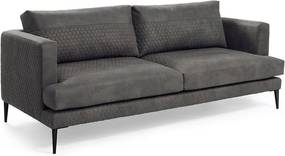 Canapea matlasata gri inchis pentru 3 persoane Vinny La Forma