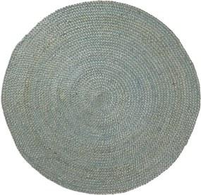 Covor din iută La Forma Dip, ⌀ 100 cm, albastru