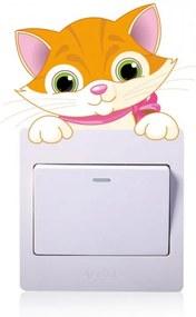 Sticker intrerupator pisica 9 x 10 cm