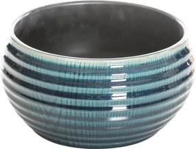 Vază din ceramică AGALIA albastru 25x25x13 cm