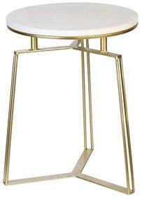 Masuta Marble  auriu, metal marmura , 55x50 cm