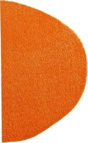 Covoras Intrare Soft & Clean, Semirotunda, Portocaliu, 50x75