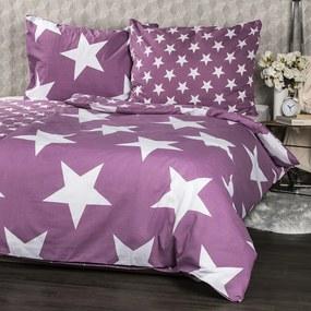 Lenjerie de pat din bumbac New Stars violet, 140 x 200 cm, 70 x 90 cm
