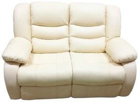 Set Canapea 2 locuri si un fotoliu cu recliner Jadine din piele 1-3 Zile, Alb