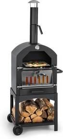 Klarstein PIZZAIOLO PERFETTO, cuptor pentru pizza, 35 x 35 cm, piatră adevărată, oțel masiv, 1,2 mm