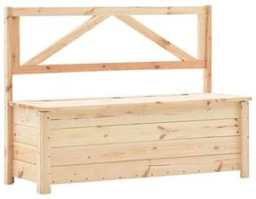 288584 vidaXL Bancă de depozitare, 120 cm, lemn masiv de pin