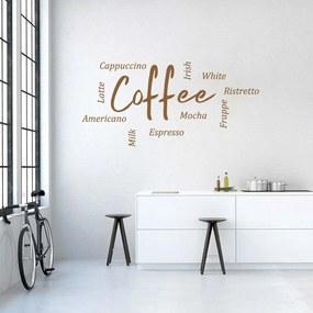 GLIX Coffee III. - autocolant de perete Alb 60x30 cm