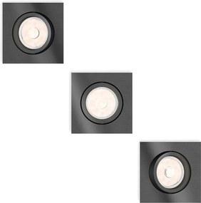 Philips 50403/99/PN - SET 3x Lampa incastrata MYLIVING DONEGAL 3xGU10/5,5W/230V