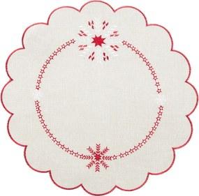 Faţă de masă crăciun Fulgi, pr. 35, diam. 35 cm