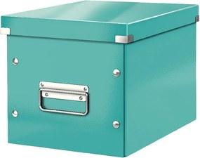 Cutie depozitare Leitz Office, lungime 26 cm, albastru turcoaz