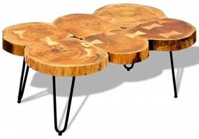 242443 vidaXL Măsuță de cafea, 35 cm, 6 butuci, lemn masiv de sheesham