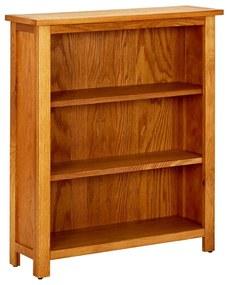 Bibliotecă cu 3 rafturi, lemn de stejar, 70 x 22,5 x 82 cm