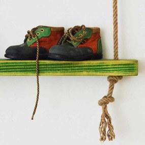Raft de Perete din Lemn Masiv cu Franghie CPT1086-75