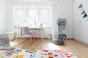Perdele pentru copii baby ball-albe 250x240 cm