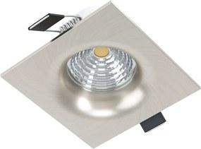 Spot incastrabil, SALICETO, EGLO, LED, 6W, 380 lm, 3000K, aluminiu, sticla, nichel mat, 8.8 x 8.8 x 4.2 cm