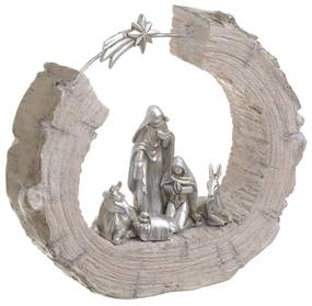 Scena Nasterii Domnului din rasina 23 x 6 x 20 cm