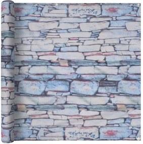 Prelată balcon, material Oxford, 75x600 cm, imprimeu zid