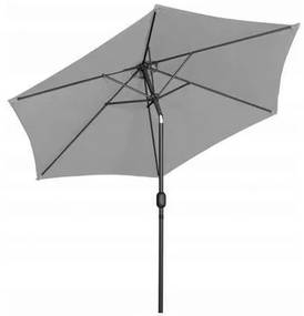 Umbrela de gradina cu inclinatie, gri, 3 m