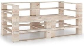 3066019 vidaXL Canapea de grădină din paleți, 2 locuri, lemn de pin