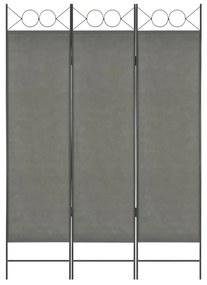 280234 vidaXL Paravan de cameră cu 3 panouri, antracit, 120 x 180 cm