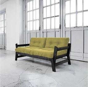 Canapea extensibilă Karup Step Black/Avocado Green